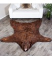6 Foot 2 Inches (188cm) Brown Bear Rug #1201131